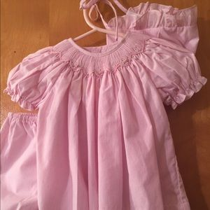 Other - Petit Ami NB pink gingham dress, pantie, bonnet